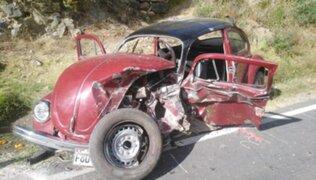 Huancavelica: niño de 9 años fallece en fatídico choque en carretera
