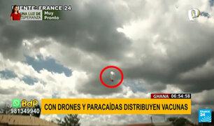 Ghana: drones ayudan a la distribución de vacunas con paracaídas