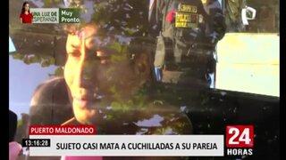 Puerto Maldonado: sujeto trató de asesinar a su pareja y madre de su hijo
