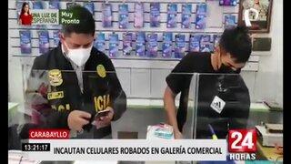 Carabayllo: incautan celulares robados en galería comercial