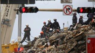 Derrumbe en Miami: paralizan búsqueda y rescate de víctimas por 'cuestiones estructurales'