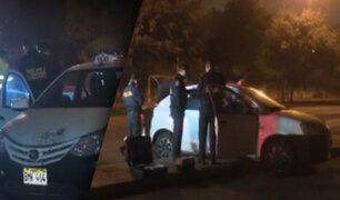 Banda de raqueteros escapa en medio de persecución en La Molina
