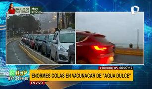 Chorrillos: reportan larga colas de autos que esperan inmunizarse en 'vacunacar'