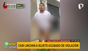 SJL: sujeto acusado de intentar violar a madre y sus dos hijas casi es linchado
