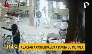 Piura: a balazos asaltan a comensales en un restaurante
