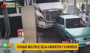 México: registran choque múltiple que deja 4 muertos y 8 heridos