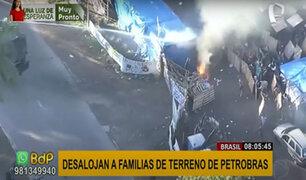 Brasil: Desalojan cerca de 400 familias en un asentamiento establecido en terreno de Petrobras