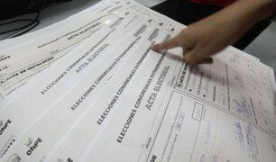 Huancavelica: verificación de actas electorales arroja que algunas firmas no serían compatibles