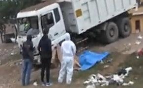 Chorrillos: camión sin frenos arrolló y mató a un hombre