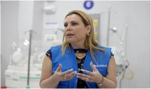 Fiorella Molinelli exhorta a adultos mayores vacunados a recibir su segunda dosis