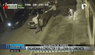 SMP: delincuentes encañonan a conductor y se llevan su camioneta