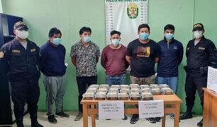 Piura: intervienen a cinco sujetos que transportan más de 20  kilos de droga