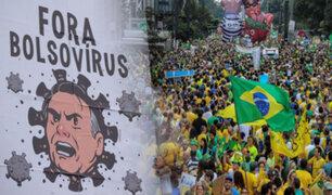 Brasil: Miles protestan contra Jair Bolsonaro por su gestión ante la pandemia