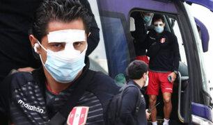 Gianluca Lapadula entrenó con la nariz vendada