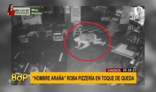 'Hombre araña' roba pizzería en Chosica aprovechando el toque de queda