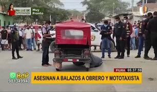Piura: asesinan a obrero y mototaxista a quemarropa