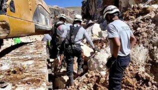 Huancayo: jóvenes obreros mueren sepultados por varias toneladas de mármol y piedras