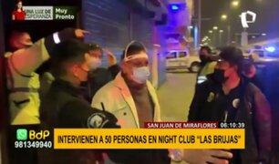 Más de 50 intervenidos en night club de SJM: evento se promocionaba por TikTok