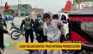 Chiclayo: caen delincuentes acusados de robar celulares tras intensa persecución