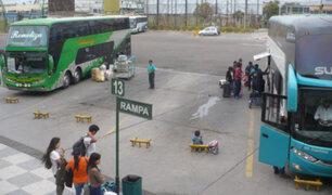 Tras 14 días de suspensión se reanudó hoy el transporte terrestre y aéreo en Arequipa