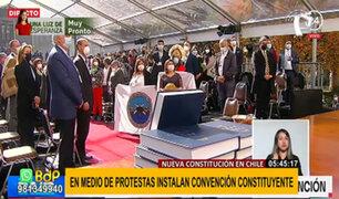 Instalan Convención Constituyente en Chile en medio de protestas