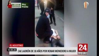 El Agustino: Cae ladrón de 18 años que robó monedero a mujer