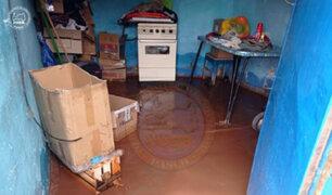 Intensas lluvias afectaron más de 20 viviendas  en la región Pasco