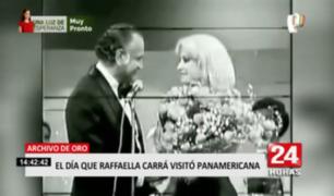 Adiós a Raffaella Carrà: así fue la visita de la artista italiana a Panamericana TV
