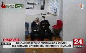Tony Rosado detenido en comisaría: iniciarán proceso contra agentes que cantaron con artista