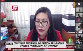 """""""Dinámicos del Centro"""": PJ suspendió hasta mañana la audiencia de prisión preventiva por 36 meses"""