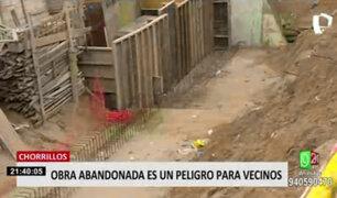Chorrillos: vecinos piden que obras inconclusas sean retomadas pues temen un accidente fatal