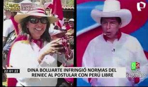 Dina Boluarte habría infringido reglamento de Reniec y debería renunciar a su puesto