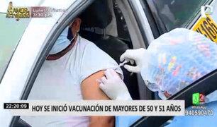 Covid-19: hoy se inició vacunación de mayores de 50 y 51 años