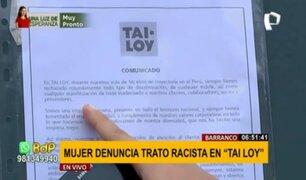 Tai Loy responde tras acusación de racismo contra mujer en una de sus tiendas de Barranco