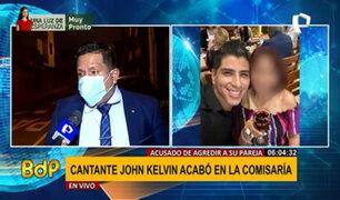 Abogado de John Kelvin habla sobre presunta agresión a la pareja del cantante
