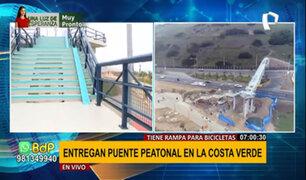 Costa Verde: inauguran renovado puente peatonal tras 7 años inoperativo