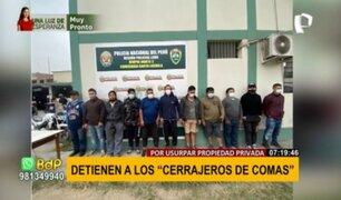 """""""Los Cerrajeros de Comas: detienen a banda delincuencial por usurpar propiedad privada"""