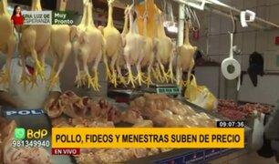 Mercado Central del Callao: sube precio del pollo, aceite y menestras