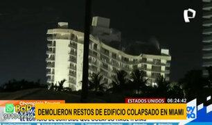 Demuelen con explosión controlada restos de edificio que colapsó en Miami