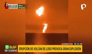 Azerbaiyán: erupción de volcán de lodo cerca de empresa petrolera causa pánico