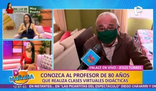 Conoce la historia del profesor de 80 años que dicta clases virtuales didácticas