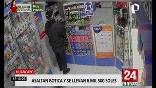 Huancayo: cámaras captan asalto a botica
