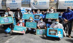 Presidenta de EsSalud acudió a Cajamarca para supervisar vacunación en coliseo Qhapac Ñan