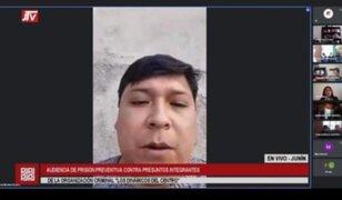 Dinámicos del Centro: dirigente de Perú Libre se presentó a la audiencia desde la clandestinidad