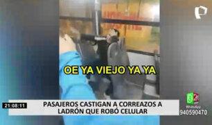 Pasajeros golpean a ladrón de celulares en Puente Piedra