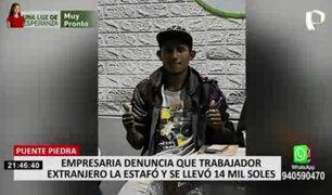 Puente Piedra: empresaria denuncia que trabajador extranjero la estafó y se llevó 12 mil soles