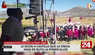 Perú Libre: congresistas electos le dicen a Castillo que la única hoja de ruta la ponen ellos