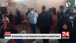 Piura: Intervienen a más de 200 personas en bares clandestinos