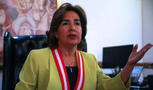 Presidenta del Poder Judicial rechazó violencia contra la mujer y negó que exista persecución a Cerrón