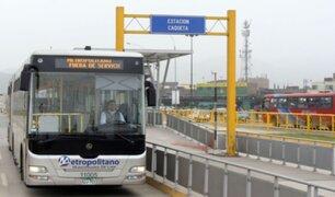 Metropolitano: conoce el nuevo horario de buses troncales y alimentadores desde este lunes 12